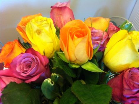 roses, valentine's day, dessert